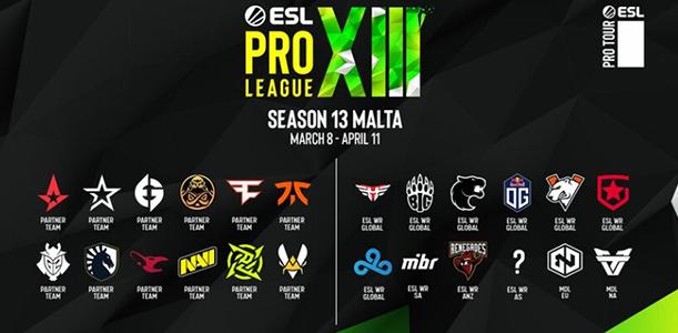 Команды ESL Pro League 2021